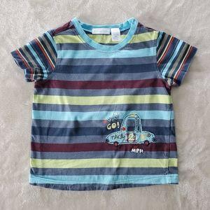 First Impression Stripe Cotton Tshirt Sz 24 M